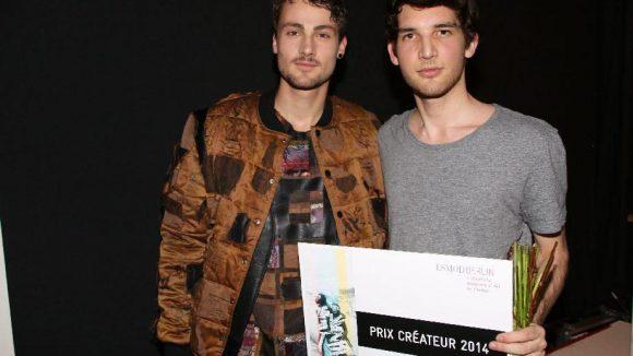 Und Thomas Cardelli bekam den Prix Créateur 2014.