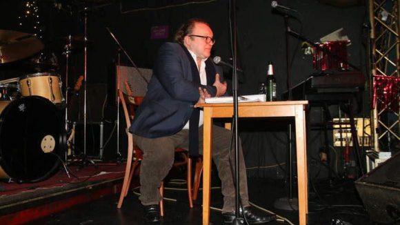 Produzent Stefan Arndt las aus dem Drehbuch und erzählte lustige Geschichten aus der Produktion.
