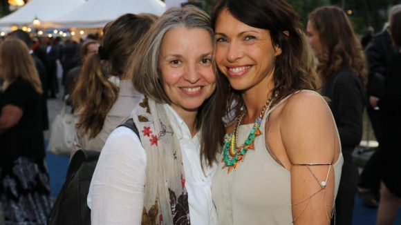 ... Jana Pallaske (r.) mit ihrer Casterin Anja Dihrberg ...