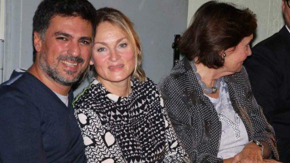 Gehörte auch zu den hochkarätigen Sponsoren des Abends: Promi-Friseur Shan Rahimkhan mit seiner Frau Claudia.