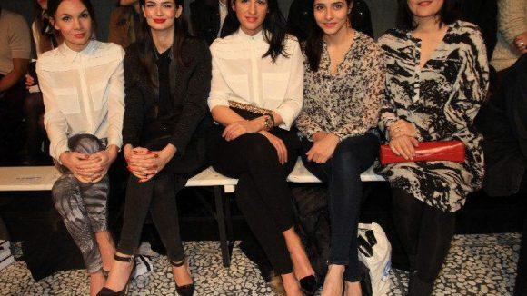 Doch damit nicht genug: Die prominent besetzte Front Row, bestehend aus Nadine Warmuth, Shermine Shahrivar, Minu Barati, Pegah Ferydoni und Jasmin Tabatabai (v.l.).