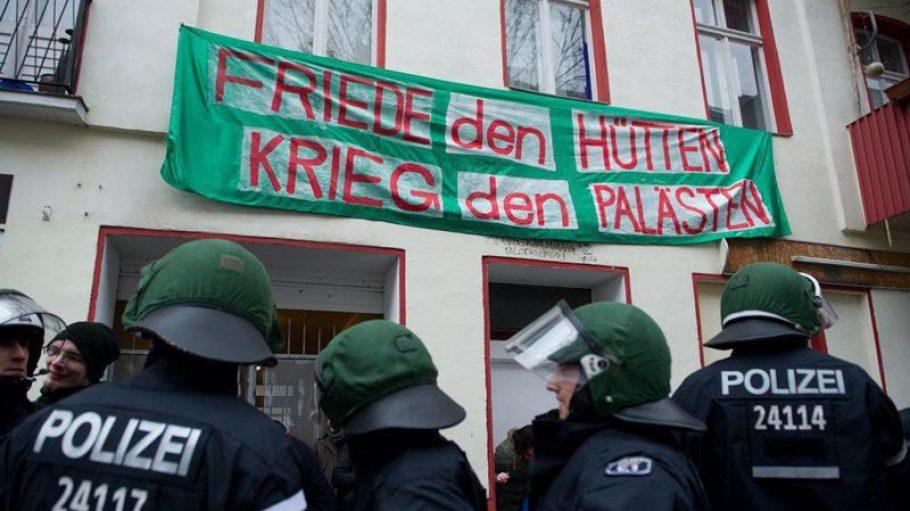 Gegen die Praxis der Zwangsräumung regt sich, wie hier in Kreuzberg Mitte Februar, immer mehr Protest.