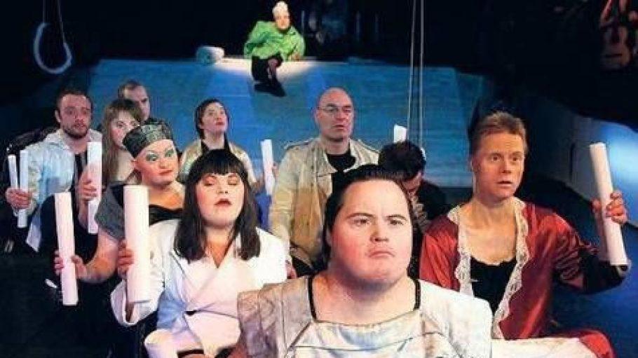 """Die Theatergruppe RambaZamba spielt ihr Stück """"Lost Love Lost"""" in der Kulturbrauerei."""