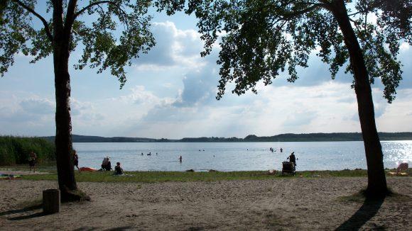 Das Strandbad Rangsdorf mit seinen weitläufigen Ufern.