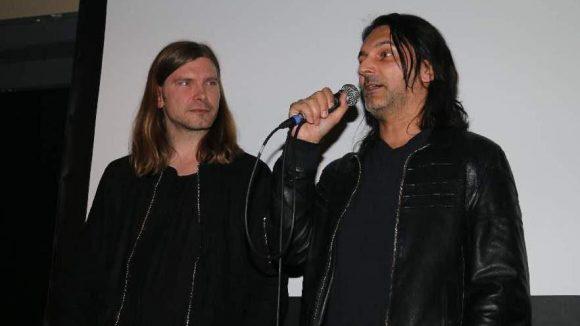 """In der Berghain Kantine wurde der Kurzfilm """"Seduction"""" vom Regisseur Parker Ellerman vorgestellt. Hier im Bild Ellermann (r.), von dem auch das Drehbuch stammt, und Berghain Resident DJ Marcel Dettmann, der den Soundtrack beisteuerte."""