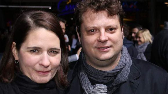 """Und hier noch die Regisseure von """"Smaragdgrün"""": Felix Fuchssteiner und Katharina Schöde."""