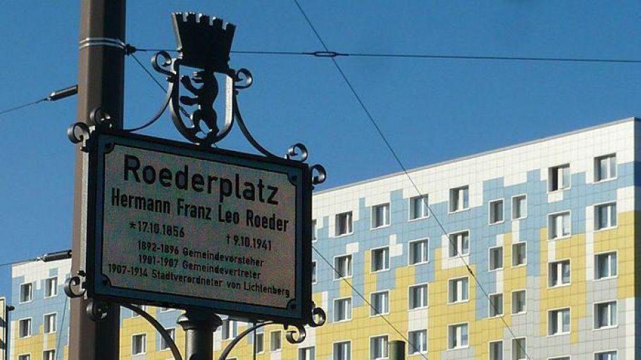 Der Roederplatz in Lichtenberg soll umgestaltet werden.