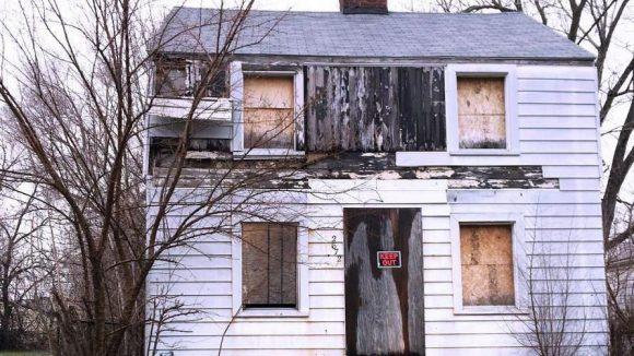 So sah Rosa Parks' Haus vor dem Abriss in Detroit aus.