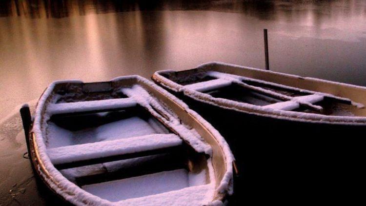 Im Winter ruht der Bootsverleih