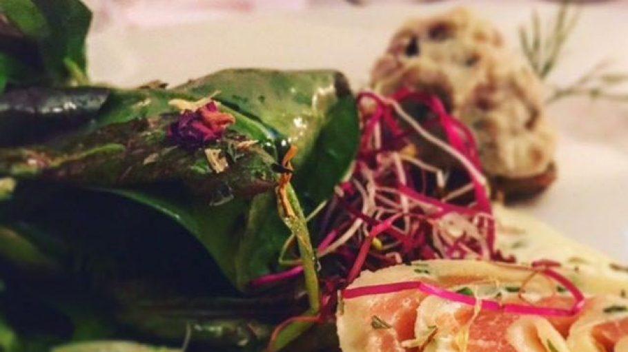 Das Probiermenü im Bootshaus Haselhorst überzeugt Gerlinde - auch der Salat.