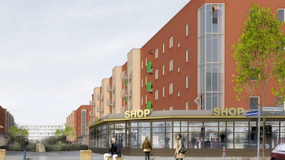 Alles so schön neue hier: So könnte es demnächst an der Hellersdorfer Promenade aussehen.