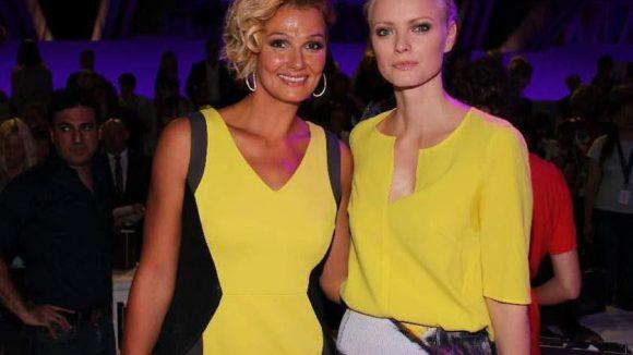 Gleiche Farbe, gleicher Name: Ex-Schwimmprofi Franziska van Almsick (links) und Model Franziska Knuppe.