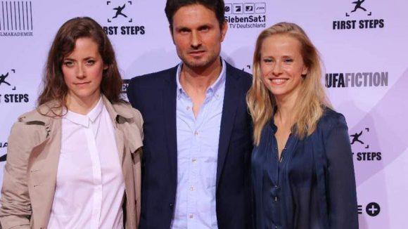 """Anja Knauer (""""Die Bergretter"""", l.), Simon Verhoeven (Regie für """"Männerherzen"""") und Susanne Bormann (""""Letzte Spur Berlin"""")."""