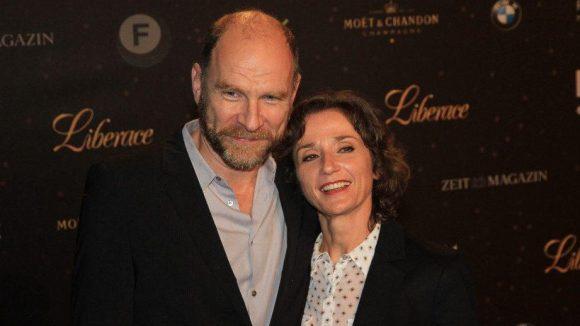 Schauspieler Götz Schubert mit seiner Ehefrau Simone Witte.