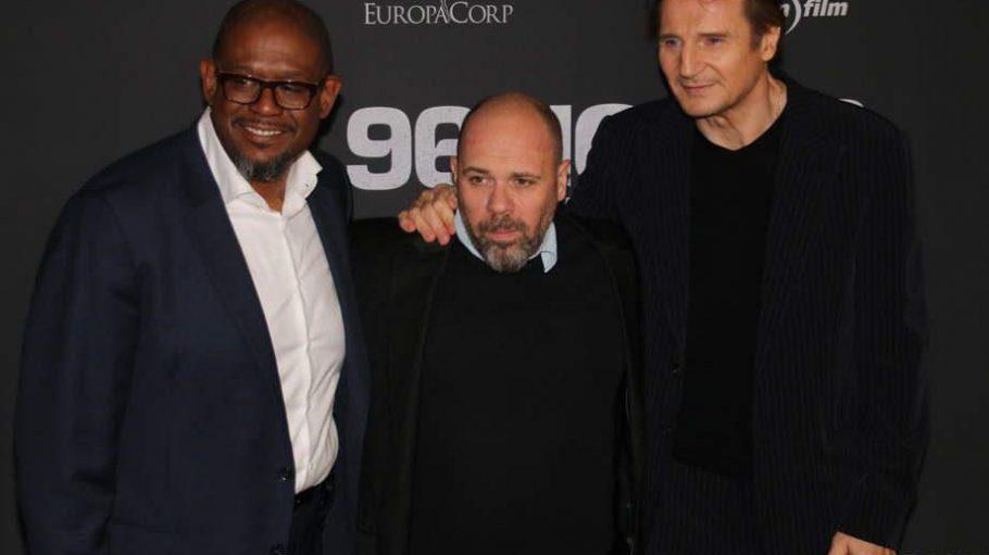 Illustres Trio: Hauptdarsteller Liam Neeson (r., zum dritten Mal in der Rolle des Ex-Agenten Bryan Mills) und Forest Whitaker (l., als hartnäckiger Polizeiinspektor Franck Dotzler) mit Regisseur Olivier Megaton.
