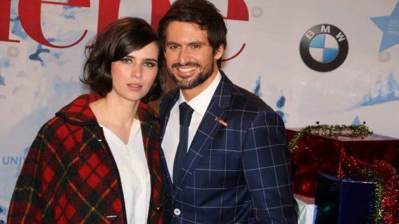 Im Karo-Partnerlook: Nora Tschirner und Tom Beck - spielen im Film die Hauptrollen.
