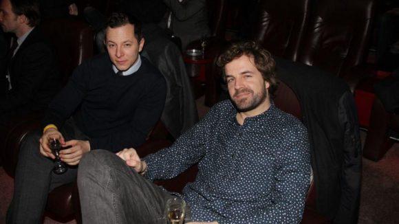 Ebenfalls dabei: Trystan Wyn Puetter (links), hier mit DJ Schowi.