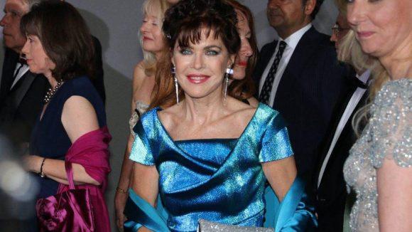TV-Schauspielerin Anja Kruse strahlte in Blau.