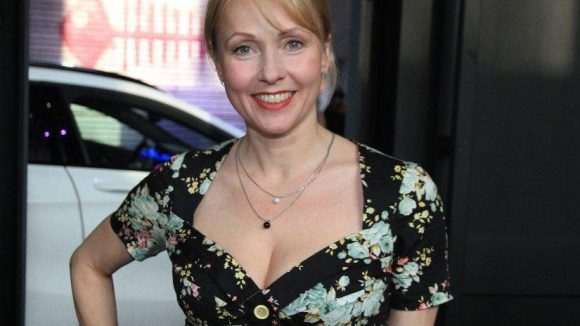 Schauspielerin Dana Golombek saß ebenfalls in der Front Row.