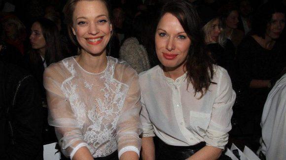 Makatsch ist großer Fan des Labels, hier mit Kollegin Sandrine Mittelstädt.