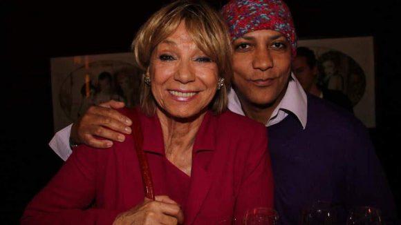 Schauspiel-Legende Judy Winter mit ihrem Adoptivsohn Francis C. Winter.