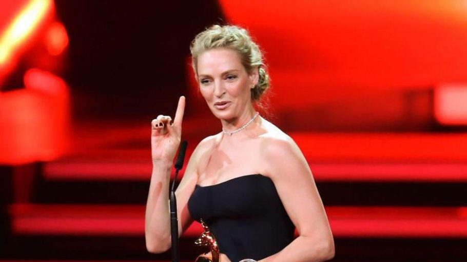 """Sorgte für Hollywood-Glamour: """"Pulp Fiction""""-Star Uma Thurman wurde als Schauspielerin International geehrt."""