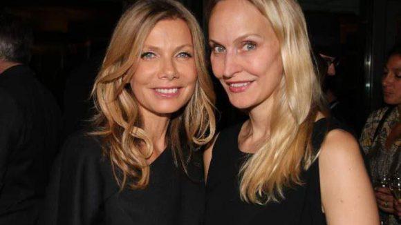 Kommen wir zu den zahlreichen Gästen: Yoga-Guru Schauspielerin Ursula Karven (l.) und die neue Gala-Chefredakteurin Anne Meyer-Minnemann.