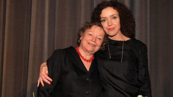 """Von Prenzlauer Berg nach Mitte: Im Kino Babylon feierten die Schauspielerinnen Maria Schrader (r.) und Ursula Werner ihren Film """"Schwestern""""."""