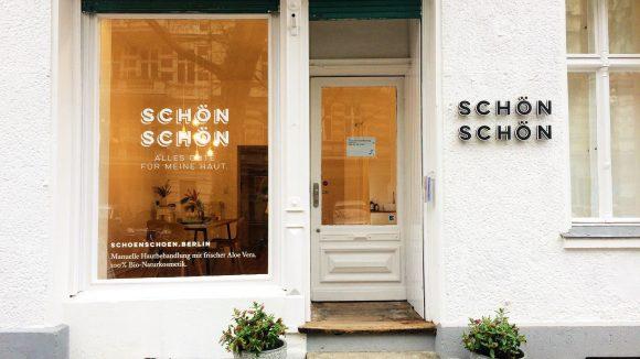 """Das neue Kosmetikstudio Schön Schön in der Dieffenbachstraße verspricht: """"Alles Gute für deine Haut""""."""