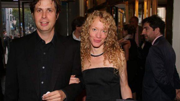 """Schriftsteller Daniel Kehlmann (""""Die Vermessung der Welt"""") mit Anne Ruebsame."""