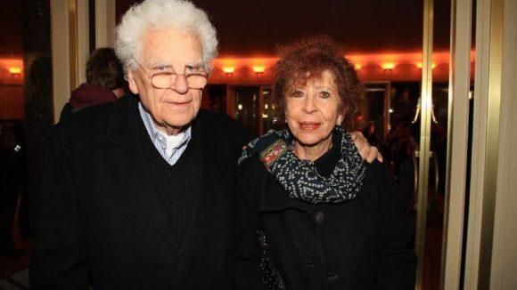Schriftsteller und Dramatiker Tankred Dorst, Preisträger im letzten Jahr, mit seiner Frau Ursula Ehler.