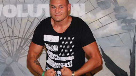 Zeigte ebenfalls, was er hat: Schwergewichtsboxer Tom Schwarz.