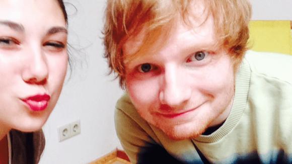 Selfie mit Ed Sheeran.