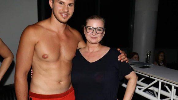 ... und My Chili-Designerin Michaela Bieling mit Model und Boxer Tobias Voss.