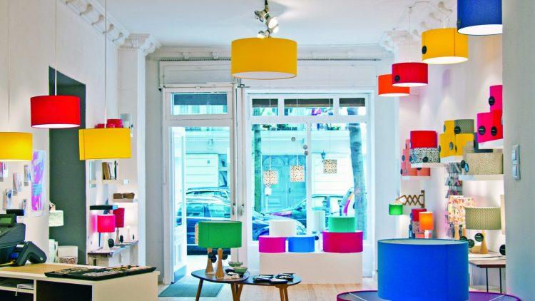 Shop für Lampen, Amseldesign
