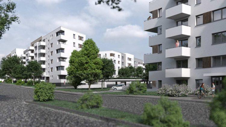 Die Joachim-Ringelnatz-Siedlung in Biesdorf-Nord, erbaut von 1993 bis 1995, wird im Süden um sieben mehrgeschossige Mietshäuser erweitert. Optisch passen sie sich an den vorherrschenden Neubau-Stil an.
