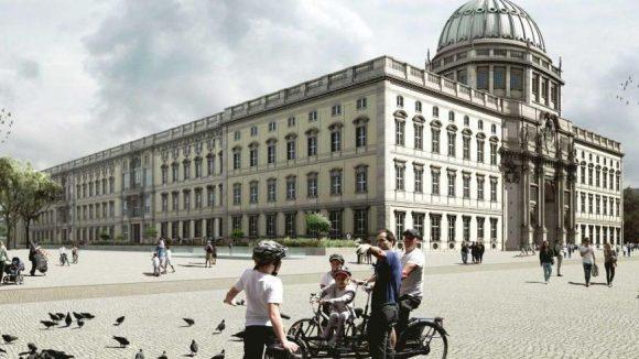 So könnte der Platz um das Stadtschloss in wenigen Jahren aussehen.