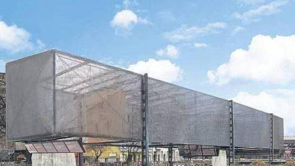 """Die Brache bleibt. Das """"Guggenheim Lab"""" sollte auf dem leerstehenden Grundstück an der Schlesischen Ecke Cuvrystraße entstehen. Jetzt sucht die Stiftung bereits zum dritten Mal nach einem Standort.Simulation: promo"""