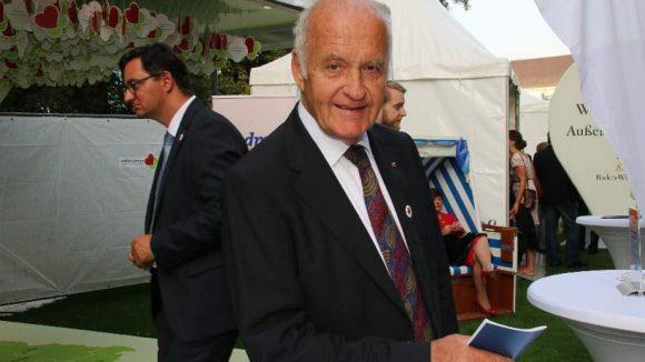 Ebenfalls zu Gast im Schloss Bellevue: Götz Werner, Gründer der Drogerie-Kette dm.