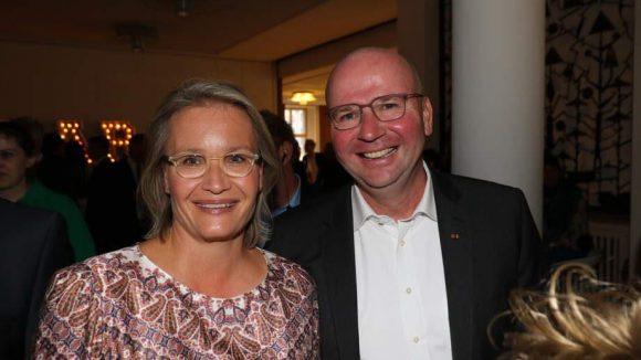 Der Gastgeber war auch guter Dinge: VBKI-Präsident Markus Voigt und seine Ehefrau Mirija.
