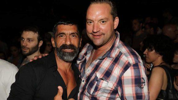 Auch Schauspieler Erdal Yildiz (l.) sowie Ex-Schauspieler und Gastronom Christian Kahrmann hatten Spaß in der Columbiahalle.