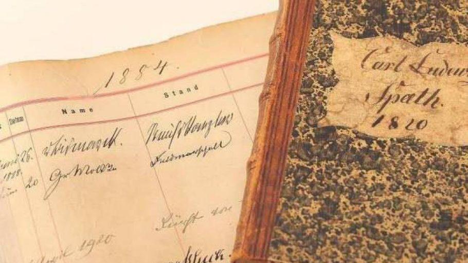 Die Unterschrift Bismarcks. Das Gästebuch der Baumschule stammt aus dem Jahr 1884.