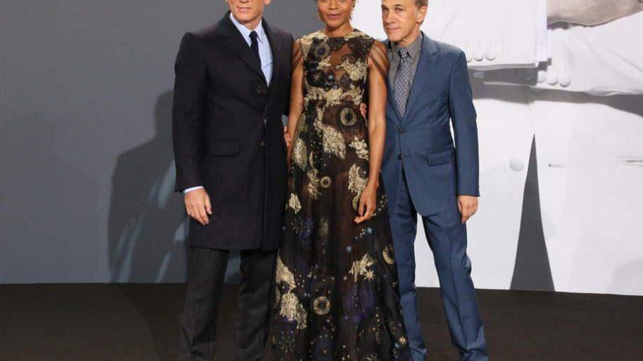 Die Hauptdarsteller aus dem neuen Bond-Streifen (v.l.): Daniel Craig, Naomie Harris und Christoph Waltz.