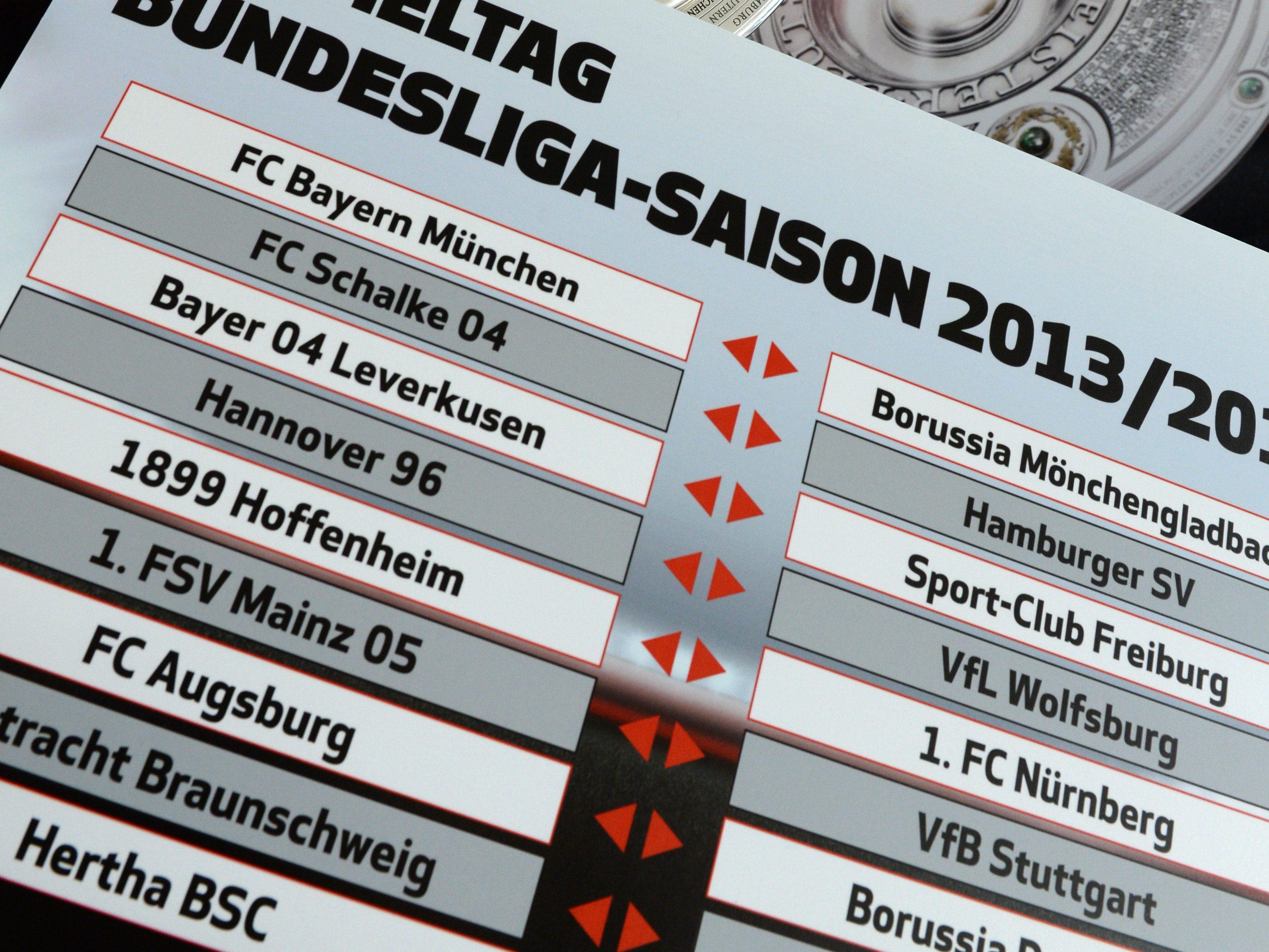 Rückrundenspielplan Bundesliga