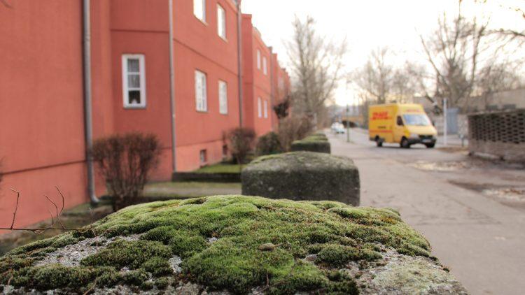 Backsteinrot: In der heutigen Splanemann- und der Friedenhorster Straße stehen die ersten Gebäude in Großplattenbauweise.