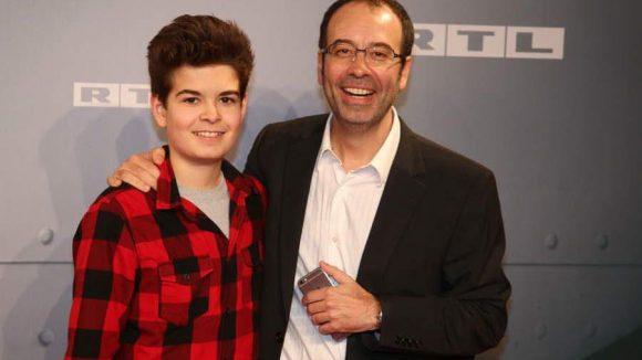 """""""Starfighter""""-Regisseur Miguel Alexandre mit seinem Sohn David."""