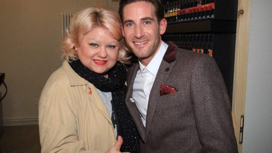 Dennis Creuzberg zusammen mit der Stylistin Betty Amrhein.