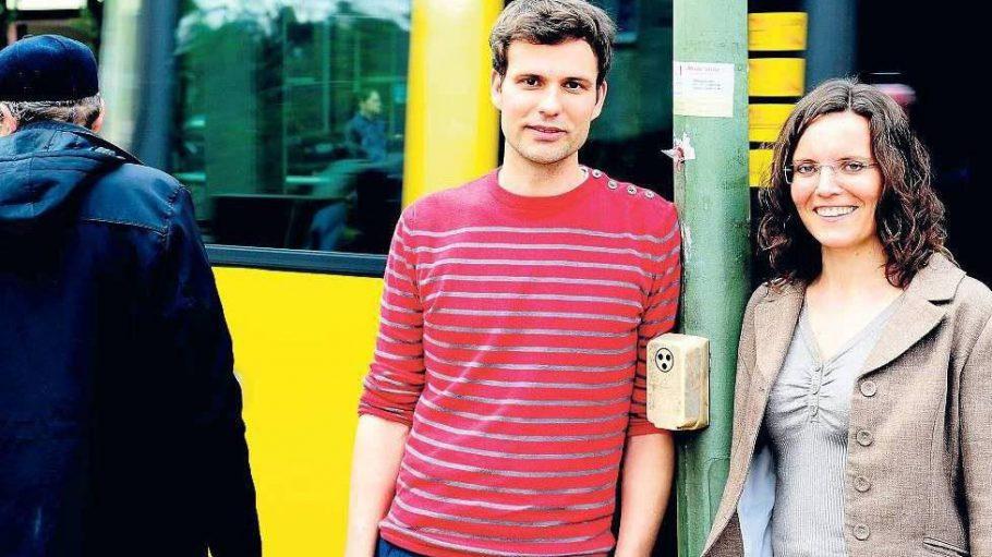 Stefan Döring und Fiona Brunk von der Quinoa-Schule in Wedding.