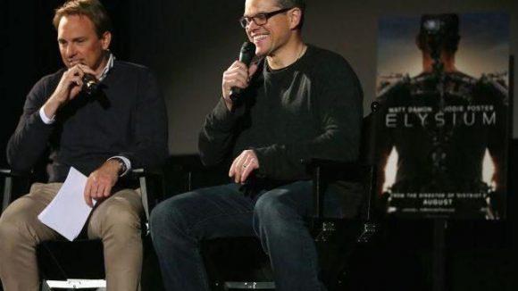 Moderator Steven Gätjen führte durch den Abend, Matt Damon gab sich sehr umgänglich.