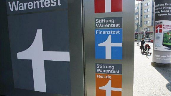 Hier sieht man es, das unverwechselbare Logo der Stiftung Warentest.